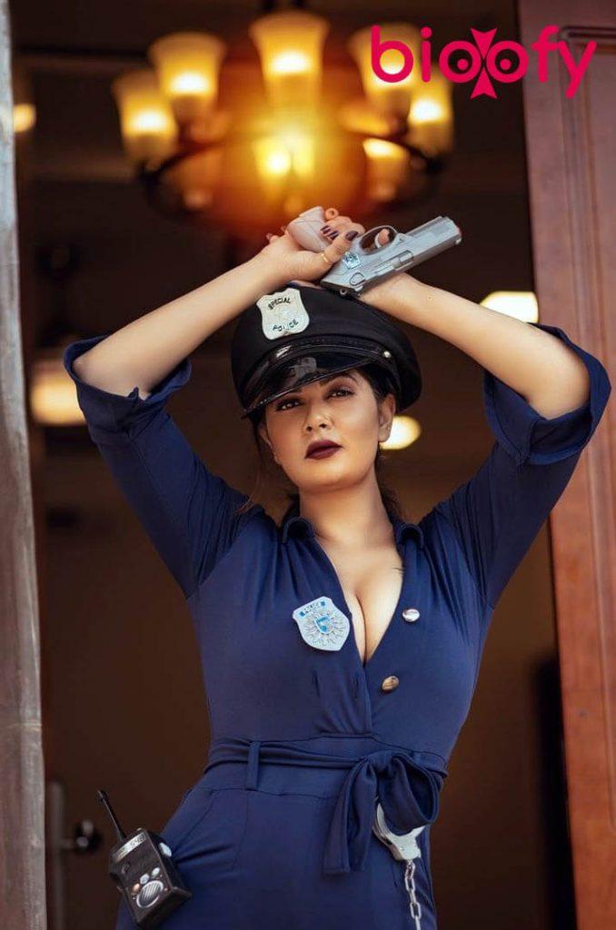 Aabha Paul Gun in HAnd